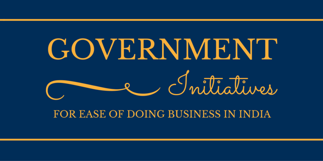 Initiatives for ease of doing business in India
