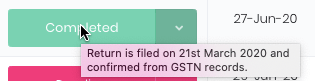 gst return filing date confirmation