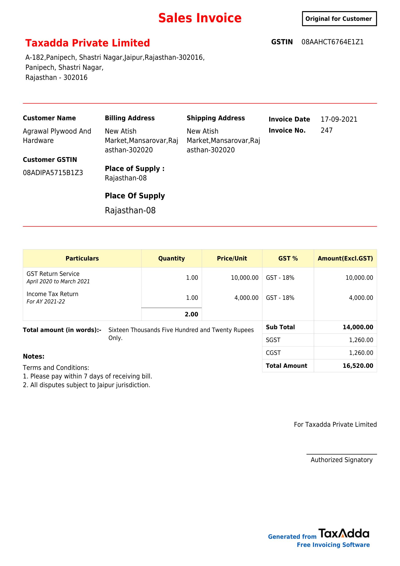 gst billing